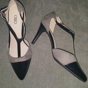 Cato heels black and beige